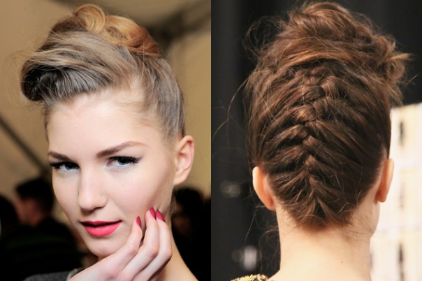 Updo French braid