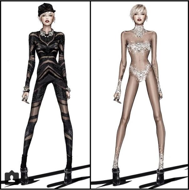 Roberto Cavalli for Miley Cyrus